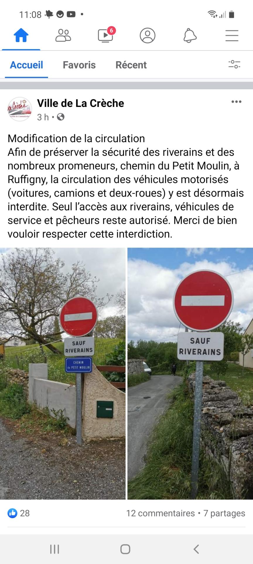 Sens interdi rue du petit moulin